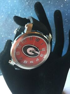 University of Georgia Bulldogs Licensed Men's Metal and Silicone Casual Watch