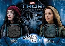 Thor Dark World DMD-7 Costume Memorabilia Card Darcy Lewis & Jane Foster