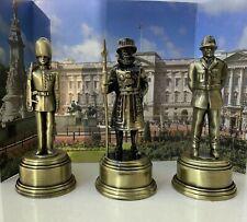 Diecast Metal Beefeater Guardsman & Policeman Pencil Sharpener Set Ornament Gift
