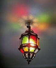 Lustre plafonnier marocain fer forgé mu lampe  applique lanterne suspension