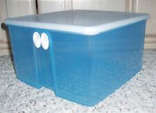 New~TUPPERWARE Fridgesmart Medium Square Vented Container Cool Blue~18 Cup #4350