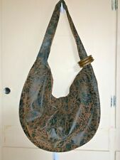 Pretty Purse Bag Handbag Shoulder Bag Large Zip Closure Bangles Brown Black