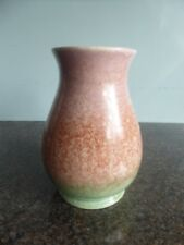 Sylvac No 2446 - Mottled Vase - Pink / Brown / Green