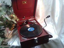 SUPERB HMV 102 DELUX RED GRAMOPHONE 5B SOUND BOX & KEY