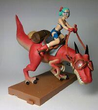 Very Rare! Dragon Ball Z Riding Scene PVC Figure Bulma & Dinosaurs Banpresto DBZ