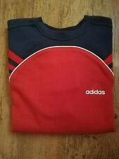 Adidas Boys Sweatshirt Sweater Pullover Sports Red Blue New