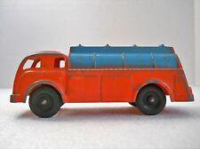Vintage Toy Truck Hubley Lancaster PA Orange Metal Toy Truck Tank Original oop