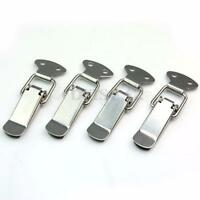 4Pcs of Set Case Box Cabinet Stainless Steel Spring Loaded Draw Toggle Latch