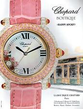 ▬► PUBLICITE ADVERTISING AD MONTRE WATCH CHOPARD Boutique happy sport