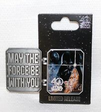 WDW STAR WARS Hinged Pin Trading '17 MAY THE FORCE BE WITH YOU 40th Anniversary