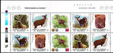 CHILE 2015 STAMP # 2536/9 MNH BLOCK TWO SERIES DEER MAMMAL PROTECT THE HUEMUL