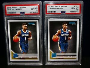 PSA 10 2019 Panini Donruss ZION WILLIAMSON Rookie Basketball Card LOT (2) #201