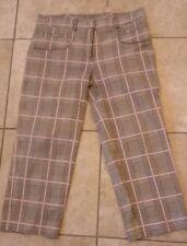DAVID MEISTER Plaid Multicolor Cotton Blend Cropped Pants Capri 2