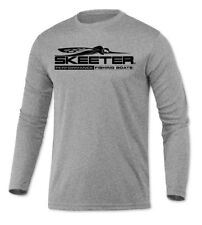 Skeeter Boats Long Sleeve Microfiber Upf Fishing Shirt Heather Gray
