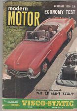 Modern Motor 1956 Feb Chevrolet Rover 75 D Type Jaguar AC Ace Citroen  Ford V8