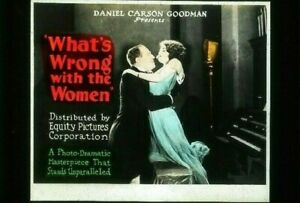 WHAT'S WRONG WITH THE WOMEN? Silent Film '22 Movie Glass Slide CONSTANCE BENNETT