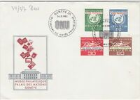 Switzerland 1962 UN Museum Palace of Nations ONU Slogan FDC Stamps Cover Rf25419