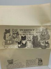 "Millie Hines Cat Kitten Craft Pattern Newspaper Purrfect Pets 1985 12"" Stuffed"