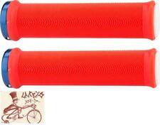 ODI SENSUS LITE V2.1 LOCK-ON RED/WHITE  W/ BLUE CLAMPS BMX-MTB BICYCLE GRIPS