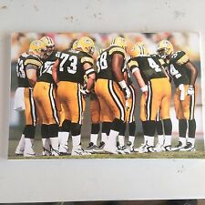DANIEL SMITH HUDDLE GREEN BAY PACKERS SIGNED CANVAS RARE 3/40 LE