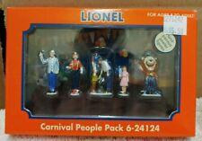 Lionel 24124 Carnival People Pack (Pewter) w/ Lenny Lion for O/027 Gauge. (11C)