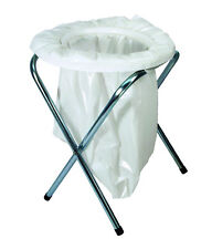 """TEXSPORT Camping Toilet, Portable, 16-1/2"""" In H x 13"""" In Dia, Model #15130, New!"""