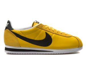 NIKE CLASSIC CORTEZ NYLON Trainers - Vivid Sulfur - UK Size 13 (EUR 48.5) Yellow