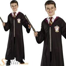 Harry Potter Official Costume Kit Boy's Book Week Fancy Dress Robe Glasses Wand