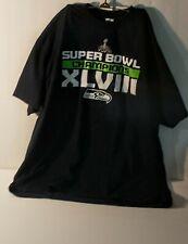 Men's Clothing - Black T-Shirt - 2XL - Seattle Seahawks - Super Bowl XLVIII