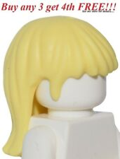 ☀️NEW Lego Minifig Hair Female Girl Yellow Long Straight Blonde Friends