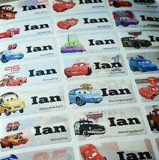 40 Disney Cars Stickers Movie Waterproof Name Labels Fire Truck Pixar Kid School