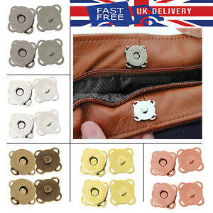 Magnetic Plum Button Snap Clasps 14/18mm Fasteners Closures for Purse Bag Craft