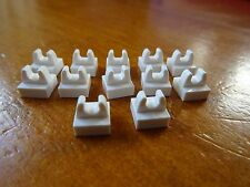 LEGO NEW WHITE 1 x 1 MODIFIED TILE WITH CLIP x 12  PART 2555