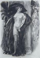 LOBEL RICHE , SPECTRE GALANT, EAU FORTE ORIGINALE 1912,TIRÉE ALBUM POUPÉES PARIS
