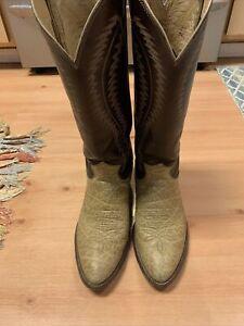 justin cowboy boots 10 D Vintage