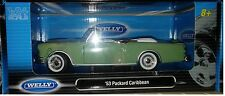 1953 Packard Caribbean Convertible Die-cast Car 1:24 Welly 8 inches Green