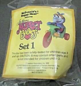 McDonalds 1986 Muppet Babies GONZO Tricycle MIB mint sealed baggie