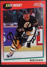 Bob Sweeney Bruins Autographed 1991 Score #176R Hockey Card JSA 16H