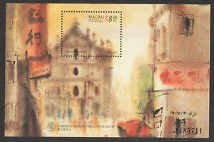MACAU MACAO 1997 PAINTINGS OF MACAO BY KWOK SE SOUVENIR SHEET STAMP SC#864 MINT