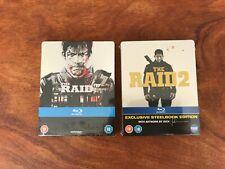 The Raid 1 & 2 - U.K Blu-Ray Steelbook Bundle - Mint / Sealed - Rare & OOP.
