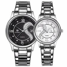 Stainless Steel Romantic Pair His And Hers Wrist Watches For Men Women 2