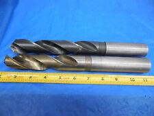New listing 2Pcs Standard / Cleveland 1 3/32 Hss Coolant Thru Twist Drill Bit 1.09375