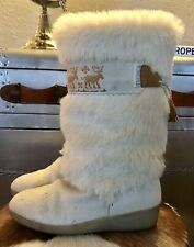 Tecnica Pony Skin and Fur Boots Size: UK7 Excellent Condition