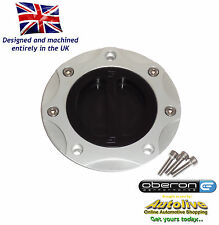 Oberon Kawasaki ZRX1200 Fuel/Gas/Race Cap Kit #FUE-0410-SILVER-BLACK