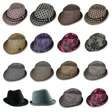 e6eee58eea6 Brand New Mens Ladies Original Wool Felt Black Trilby Fedora Hat Grey Black
