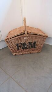 F&M Fortnum & Mason Large Top Opening Hamper Basket