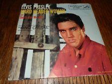 """Elvis Presley """"Hard Headed Woman"""" 7"""" Orig '58 45 w Pic Slv"""