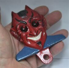 Eye-Caching <> Smiling Dapper Devil <> Auto / Motor Cycle License Plate Topper
