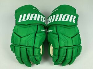 "New! GREEN Warrior Auston Matthews Leafs NHL Pro Stock Hockey Gloves 14"" ST PATS"