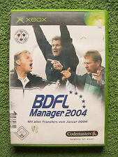 Microsoft XBOX Spiel BDFL Manager 2004 (Microsoft Xbox, 2004, DVD-Box)